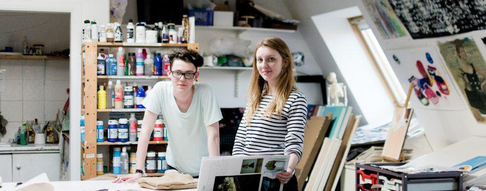 Artroom J Kirby and S Watson Brampton College