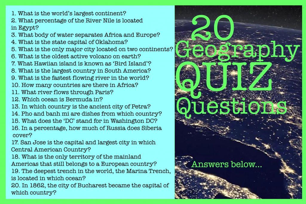 BBOSF Geography Quiz
